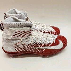 Nike Red White Lunarbeast Elite TD Football Cleats